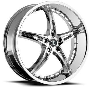 22 inch 2CRAVE NO14 Chrome Wheels Rims 5x120 BMW 5 Series 6 Series 7