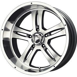 New 17x8 5x127 MB Motoring Anthracite Wheels Rims