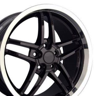 18 Rim Fits Corvette C6 Z06 Deep Black Wheel 18x10 5