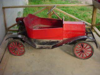 Original Model T Ford Shriners Go Cart Car Orig Motor Wood Wheels Runs