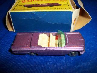 Matchbox Lesney 39 Pontiac in RARE Purple Color NMIB