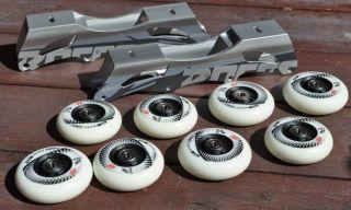 High Quality Inline Skate Frames w 165mm Mount Hyper Wheels