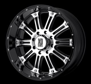 16 inch KMC XD Hoss Black Wheels Rims 6x5 5 6x139 7