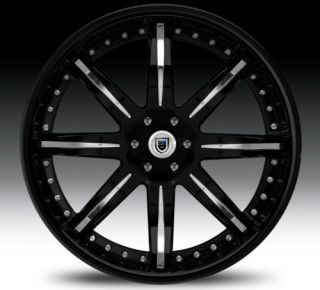 20 asanti AF161TRUCK Black Chrome Wheels Rims 3 Piece