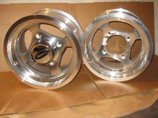 AMS 12x7 4 137 4lb 3 4 3 Kawasaki Aluminum Mag Wheels Rims