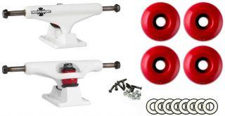 149mm White Trucks Package Wheels ABEC 9 Bearings Skateboard