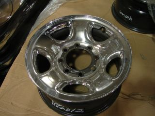RAM 2500 3500 8 Lug Chrome Steel Wheels Rims 2186 2003 2012