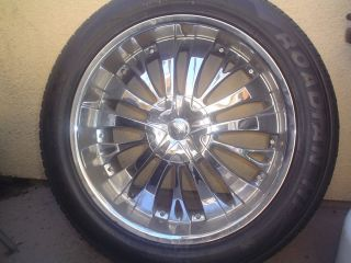 Tyfun TW705S 22 Chrome Wheels Rims 6x5 5 6x139 7mm Tahoe Suburban