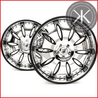 22 Custom ASANTI Wheels Mercedes S CL Chrome Rims TPMS Caps S550 S600
