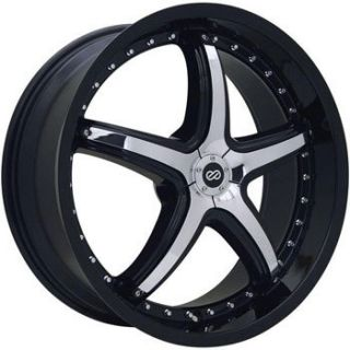 20 Enkei LS 5 Black Chrome Rim Wheel 350Z 370Z G35 G37