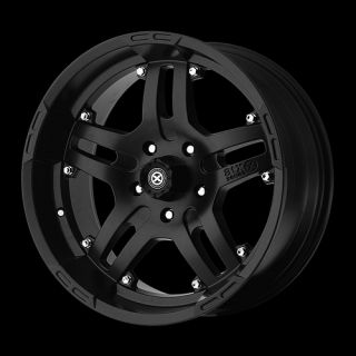 ARTILLERY 6X135 NAVIGATOR F150 EXPEDITION RAIDER RAM BLACK WHEELS RIMS