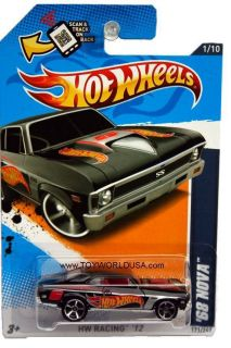 2012 Hot Wheels HW Racing 171 1968 Chverolet Nova Black
