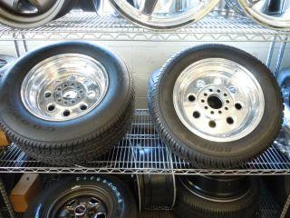 Weld Racing Draglite 15 Wheels w Lugs Center Caps Tires Universal Fit