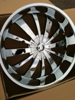 24 Chrome Rims Tires 6x139 Chevy GMC Denali Titan