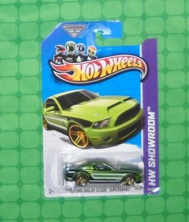 2013 Hot Wheels Showroom 155 10 Ford Shelby GT500 Supersnake