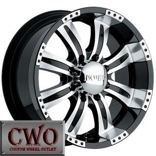 18 Black Poltergeist Wheels Rim 6x139 7 6 Lug Titan Tundra GMC Chevy