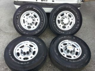 CHEVY GMC 16 OEM 8 LUG ALLOY WHEELS RIMS Tires 2500 3500 HD Silverado