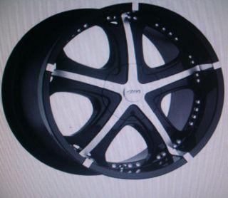 MB Motoring GTX Alloy Black Inserts Wheel Center Cap Hub 695L177L