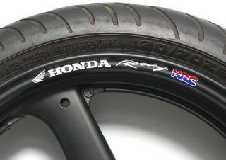 Honda Racing HRC Wheel Rim Decals Fireblade CBR VFR VTR