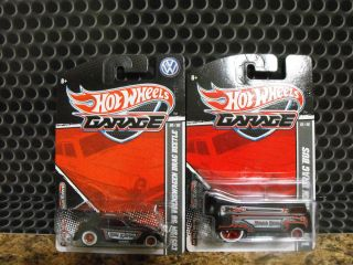 Hot Wheels Wal Mart VW Drag Bus Exclusive and VW Drag Bug Garage