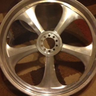 Custom Chopper Motorcycle Wheels w Matching Pulley
