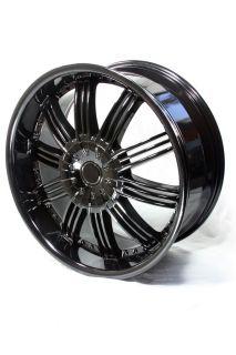 22 Custom Black Avenue A603 Wheels Camaro Magnum Charger Challenger
