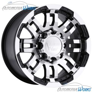 Vision Warrior 8x165 1 8x6 5 6mm Black Machined Wheels Rims Inch 16