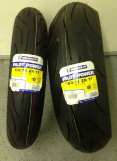 Pilot Power Motorcycle tires Sz Front 120 70 R17 Rear 190 55 R 17