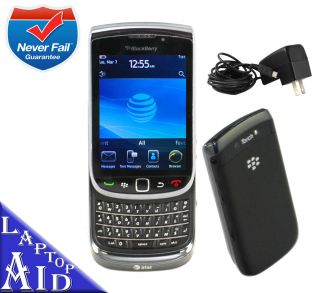 Unlocked Rim Blackberry Torch 4GB 9800 Black at T Works Great