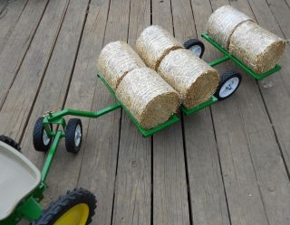 for Pedal Tractors Detachable Dollie Wheels Bales Included