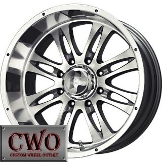 20 Silver MB Gunner 8 Wheels Rims 8x165 1 8 Lug Chevy GMC Dodge 2500