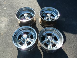 Vintage Rocket Racing Wheels GM 15 Street Rod, Gasser, GTO Chevelle
