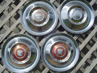 1955 55 Mercury Hubcaps Grand Marquis Colony Park Wheel Covers Antique