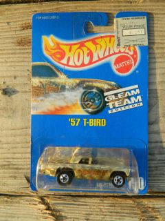 Hot Wheels Blue Card Collector No 190 57 T Bird Gleam Team