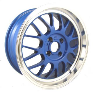 16 Spun Supamesh Blue Rims Wheels Civic Integra Miata