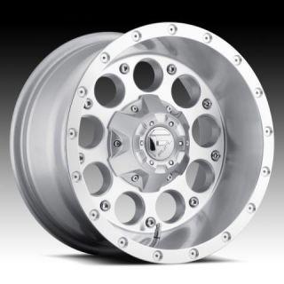Revolver 18x9 0 Silver Machined Wheel Set Truck Rims Wheels