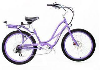 Pedego Electric Cruiser Bicycle Bike Purpleframe Purplerims Black