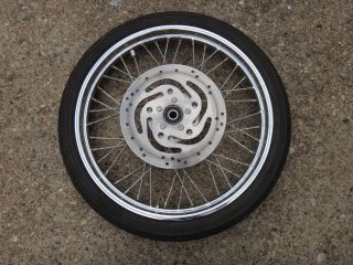 Harley Sportster 1200 883 Spoked Front Wheel Rim Tire Hub X