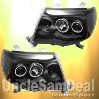 TOYOTA TACOMA CCFL HALO RIMS ANGEL EYES PROJECTOR HEADLIGHTS CLEAR