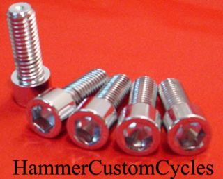 16 18x3 4 Socket Cap Head Screw Chrome 5pc Harley