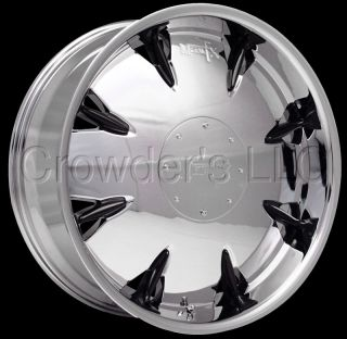Metal FX Car Wheel Rim MFX5 Chrome Black 20 inch 5 Lug