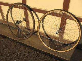 Wheel Set Vintage Shimano Dura Ace Hubs Mavic GP 4 Tubular Rims