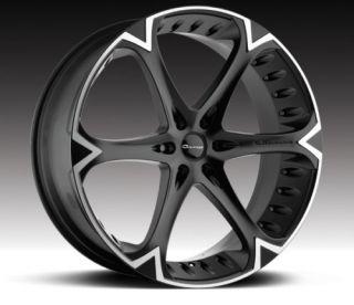 26 inch Giovanna Dalar Wheels Cadillac Escalade Black