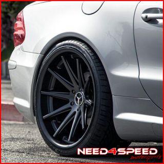 E350 E550 E63 Rohana RC10 Black Concave Staggered Wheels Rims
