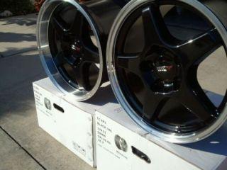 Black w Machined Lip ZR1 Corvette Wheels 17x9 5