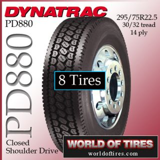 Tires Dynatrac PD880 295 7522 5 Semi Truck Tire 22 5LP Truck Tires