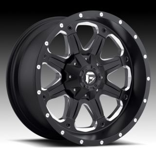 Fuel Off Road Black Wheels 17 x 9 Boost Chevy Silverado Toyota Tacoma