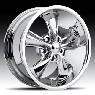 Legend Wheel Set 17x7 Chrome Hot Rod Classic rwd 5 Lug Rims