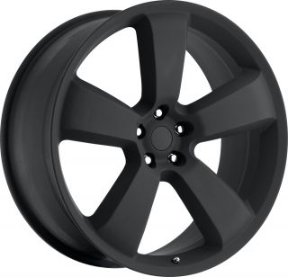 Flat Black Charger SRT8 300 Magnum Challenger Wheels Rims Set 4