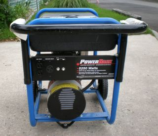 Brand 5250 Watt Portable Electric Power Generator with Wheels GT5250